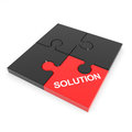 Assembled solution puzzle. Stock Photography