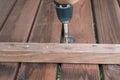 Assembling a table details of garden Stock Photo