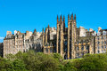 The assembly hall edinburgh scotland is in neo gothic building situated directly east of castle with twin turrets forking above Stock Images