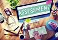 Assessment evaluation opinion analysis calculation concept Royalty Free Stock Images