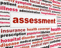 Assessment medical words concept health care issue creative background Royalty Free Stock Photography