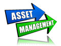 Asset management in arrows text d business financial operation concept Royalty Free Stock Photography
