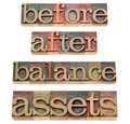 Assets and balance concept Stock Images