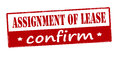 Assignment of lease confirm