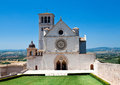 Assisi cathedral basilica di san francesco d Stock Photography