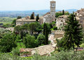 Assisi italy italian hill town of with castle Royalty Free Stock Photography