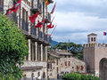 Assisi italy italian hill town of with castle Stock Photo