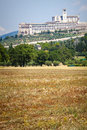 Assisi, Italy. View of the Basilica of San Francesco. Royalty Free Stock Photo