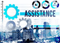 Assistance assist support help team corporate concept Royalty Free Stock Photography