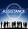 Assistance collaboration cooperation help support concept Stock Photos