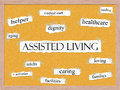 Assisted Living Corkboard Word Concept Royalty Free Stock Photos