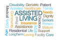 Assisted Living Word Cloud Royalty Free Stock Photo