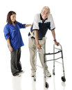 Assisting the Elderly Stock Photography