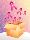 Association breast cancer illustration of Royalty Free Stock Photography