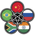 The association of emerging national economies brazil russia india china south africa Stock Photography