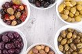 Assorment of olives close up on Royalty Free Stock Image