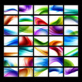 Assorted Abstract Wave Backgrounds Stock Photo
