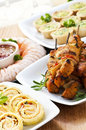 Assorted appetizers Stock Images
