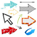 Assorted arrow collection various designs Stock Image