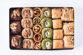 Assorted baklava desserts Royalty Free Stock Photo