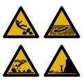 Assorted beach hazard signs Stock Photography