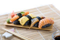 Assorted Black Sushi Royalty Free Stock Photo
