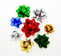 Assorted bows for gift wrapping Royalty Free Stock Photo