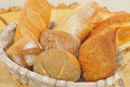 Assorted bread rolls in a basket Royalty Free Stock Photo