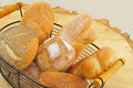 Assorted bread rolls in a basket Royalty Free Stock Photos