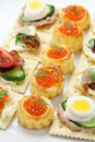 Assorted canape homemade party food Royalty Free Stock Images