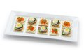Assorted canape homemade party food Stock Photo