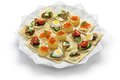 Assorted canape homemade party food Stock Images