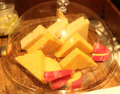 Assorted cheese beautiful shot of in hotel Royalty Free Stock Photography