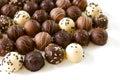 Rozmanité čokoláda hľuzovky