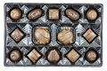 Assorted chocolates box candy food Royalty Free Stock Photo