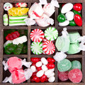 Assorted Christmas candy Stock Images