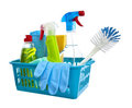 Assorted cleaning products Stock Images