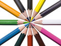 Assorted color pencils Royalty Free Stock Photos