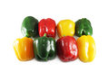 Assorted colored peppers Stock Photo