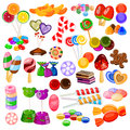 Assorted colorful Candy Collection Royalty Free Stock Photo