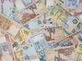 Assorted currency notes mix of gulf country Royalty Free Stock Photography