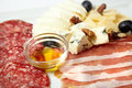 Assorted deli meats and cheese Royalty Free Stock Photo