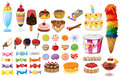Assorted desserts and sweets