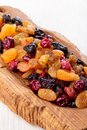 Assorted dried fruit and berries Royalty Free Stock Photo