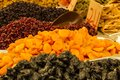 Assorted dried fruits for sale in the market in Jerusalem, Israel Royalty Free Stock Photo