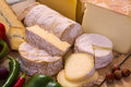 Assorted french cheeses Royalty Free Stock Photo