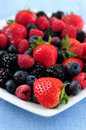 Assorted fresh berries Stock Photography