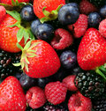 Assorted fresh berries Royalty Free Stock Images