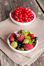 Assorted fresh berries, close up, vertical Royalty Free Stock Photo