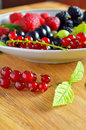 Assorted fresh garden berries Royalty Free Stock Photo